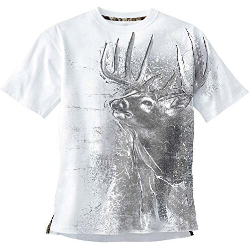 Legendary Whitetails Men's Instincts Short Sleeve Tee White Large (Legendary Sport Prints Iron)