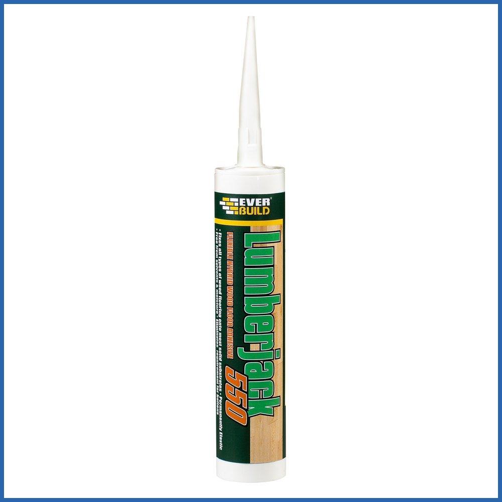 12X Everbuild Lumberjack 550 Flexible Wood Floor Adhesive - 300ml EVBLJACK5503