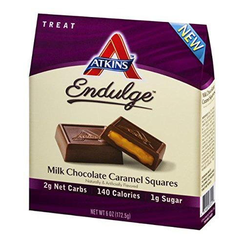 Atkins endulge pieces - milk chocolate caramel squares - 6.1 Ounce