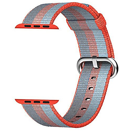 Apple Watch Band 42mm Honest kin Fine Woven Nylon Adjustable iWatch Band Replacement Wrist Straps Bracelet Connector for Apple iWatch Series 1 / 2 / 3,Sport & Edition (Fine China Band)