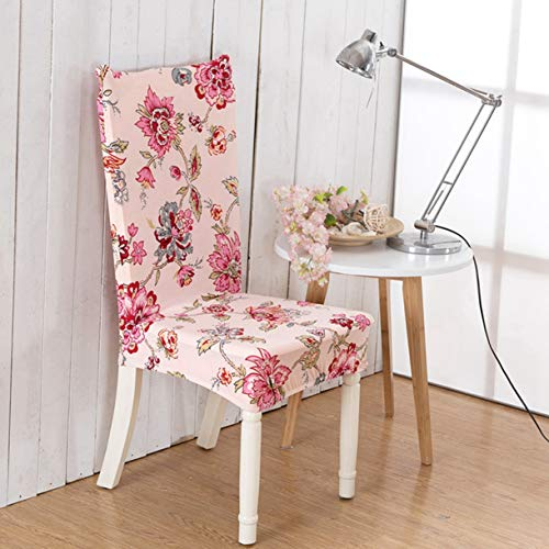 TANGOGO Spandex Elastic Removable Dining Stretch Chair Cover Flag Floral Pattern Chair Cover Party Hotel Banquet Chair Seat Cover 1pc ()