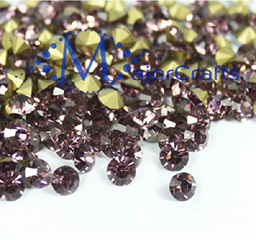 MajorCrafts 280pcs Light Amethyst Purple 8mm ss39 Point Back Glass Chatons, Rhinestones