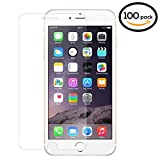 100PK - SOJITEK iPhone 7, 8 PLUS Premium Japanese Ballistic Tempered Glass Screen Protector NO retail package - Clear Clarity & Touchscreen Accuracy Smart Film 0.33mm, Bulk/ Wholesale Screen Protector