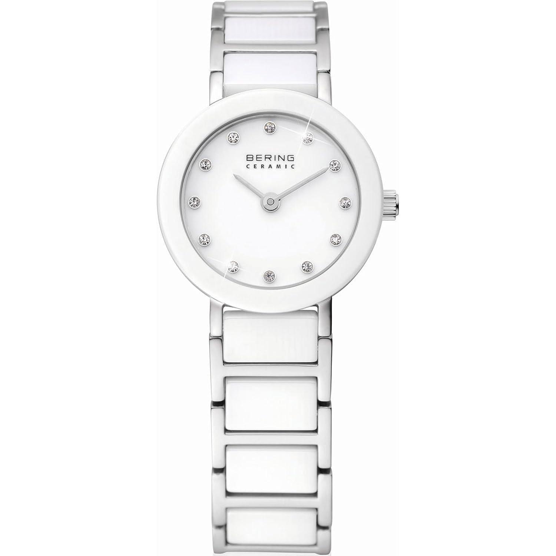 Bering Time Damen-Armbanduhr XS Ceramic Analog Quarz verschiedene Materialien 11422-754