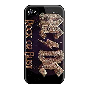 Best Cell-phone Hard Cover For Iphone 4/4s With Allow Personal Design Fashion Ac Dc Band Skin SherriFakhry