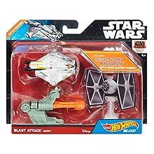 Hot Wheels Star Wars Blast Attack Starship Vehicle (Rebels Ghost Battle Damage)