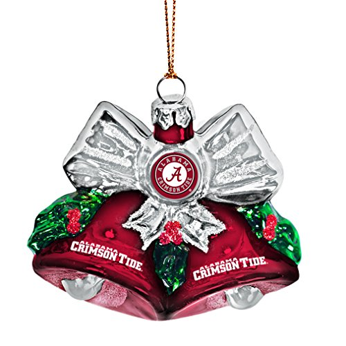 Ncaa Ornaments (NCAA Alabama Crimson Tide Glitter Bells Ornament)