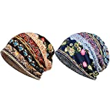Puremood Women Chemo Hat Cap Women's Loose Casual Beanie Makeup Hat Scarf Hat Chemo Hat