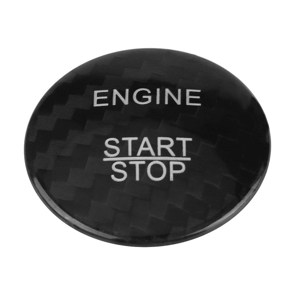 KIMISS Motor Start Stop Taste Abdeckung Trim Carbon Fiber (Swarchz)
