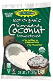 Let's Do Organic Shredded Coconut, Medium Shred, Food Service Size, 25 Pound