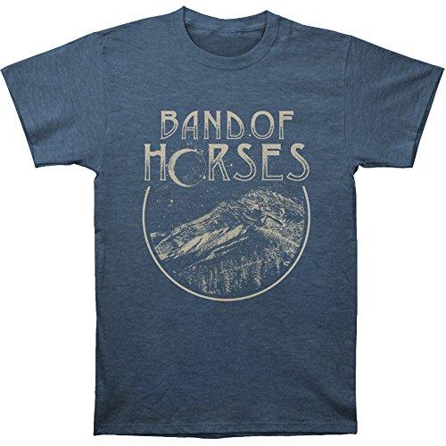 (Band Of Horses Men's Peak Slim Fit T-shirt X-Large Heather Navy)