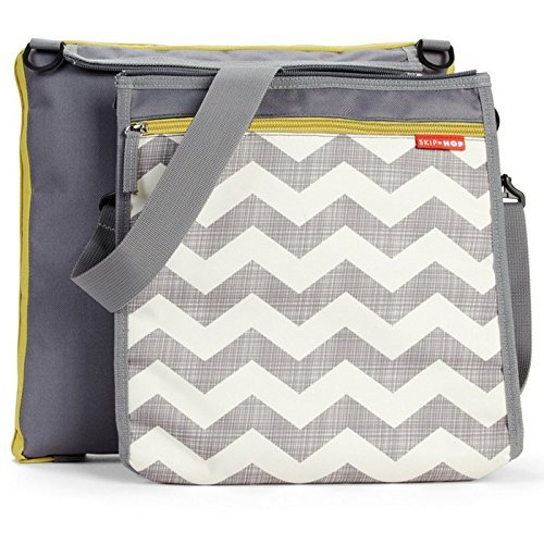 Skip Hop Baby Infant & Toddler Central Park Waterproof Convertible Outdoor Blanket & Detachable Cooler Bag Multi Chevron [並行輸入品]   B07DRDZB59