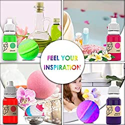 Organic bath bomb coloring soap making set with 19