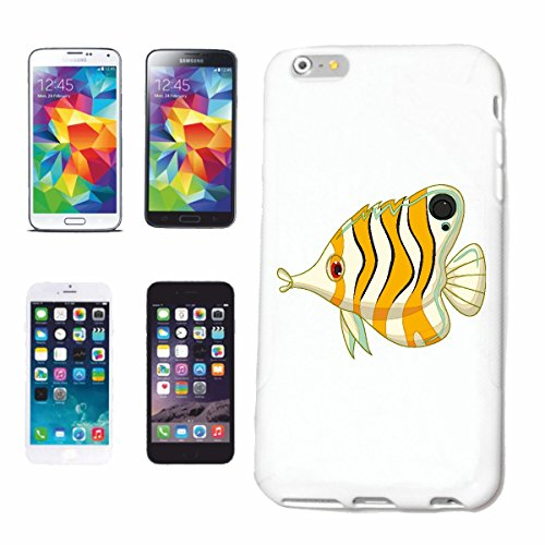 "cas de téléphone iPhone 6S ""COLORÉ DU POISSON DÉCORATIF AVEC LES ESPECES DE NEZ LONG FISH ORNEMENTALE FISH AQUARIUM"" Hard Case Cover Téléphone Covers Smart Cover pour Apple iPhone en blanc"
