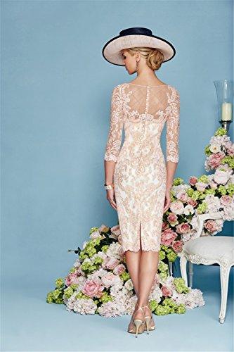Kleider 34 Elegant Rosa dressvip Chiffon Damen Festlich YTHztwq