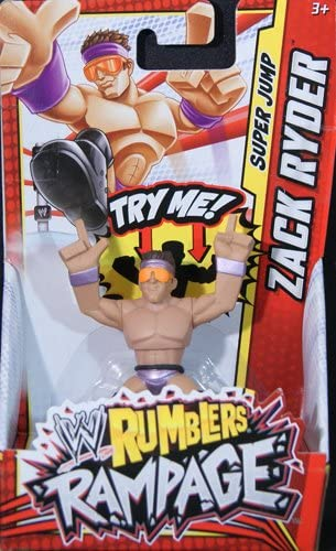 Amazon Com Zack Ryder Wwe Rumblers Rampage Mattel Toy Wrestling