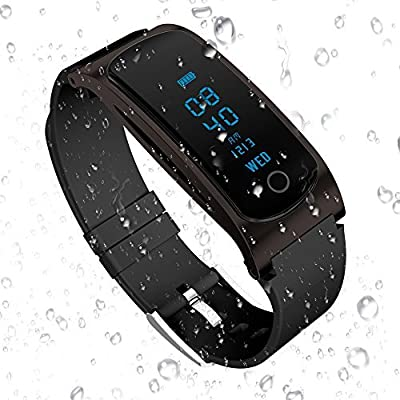 HYON Waterproof Fitness Tracker with Heart Rate Monitor Activity Tracker Fitness Tracker Watch Wearable Pedometer Sleep Monitor Bluetooth Smart Watch for iOS iPhone X Android Cell Phone