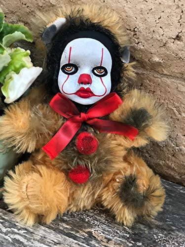 OOAK Pennywise IT Clown Teddy Bear #4 Creepy Horror Doll Art Christie Creepydolls from Christie Creepy Dolls