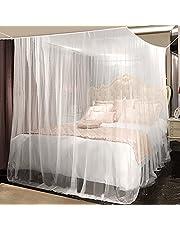 yotame Mosquitera Cama 230 x 220 x 235 cm universal Mosquitera para cama, repelente natural Mosquitera grande ligero y transpirable para interior y exterior, Blanco