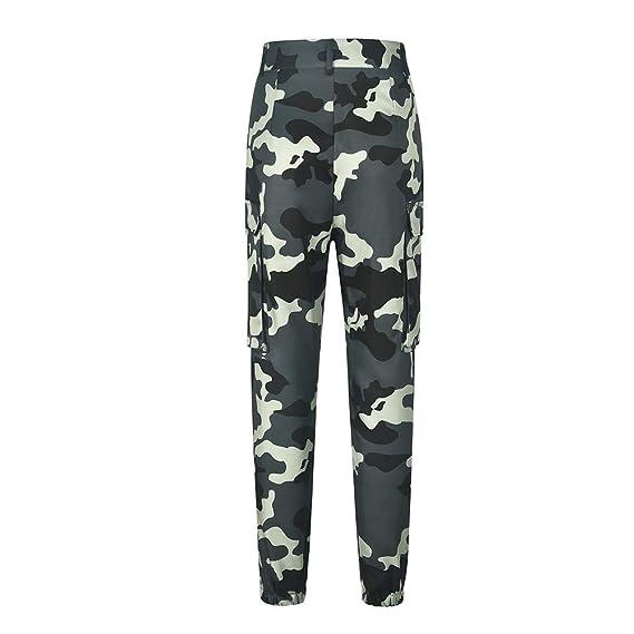 Ansenesna Hosen Damen Camouflage High Waist Lang Locker Camo Cargo Elegant  Freizeithosen Mode Freizeit Für Mädchen Teenager  Amazon.de  Bekleidung d40d6252f6