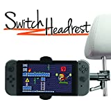 iBOLT Switch Headrest Heavy-duty metal Mount / Holder for the Nintendo Switch , Sony PSP / PSP 3000 , most smartphone and cases ( iPhone 8 / 8 Plus / X / 7 / 7 plus , Samsung Galaxy S7 / S6 / Note 8)