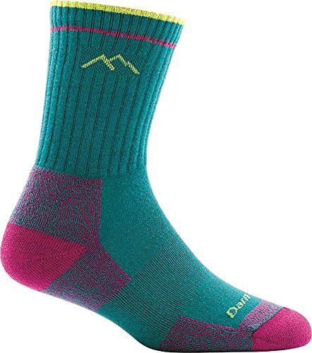 Performance Micro Sock - Darn Tough Coolmax Micro Crew Cushion Sock - Women's Teal Medium