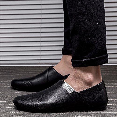 En Annen Sommer Menns Casual Stil Lette Komfortable Loafers Svart