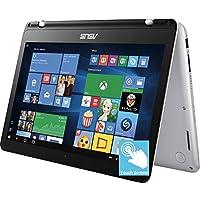 Asus 13.3 Full HD IPS Touchscreen 2-in-1 Laptop, Intel Dual-Core i5 7200U up to 3.1GHz, 8GB DDR4, 256GB SSD, Intel HD Graphics, 802.11ac, Bluetooth, HDMI, Backlit Keyboard, Fingerprint Reader, Win 10