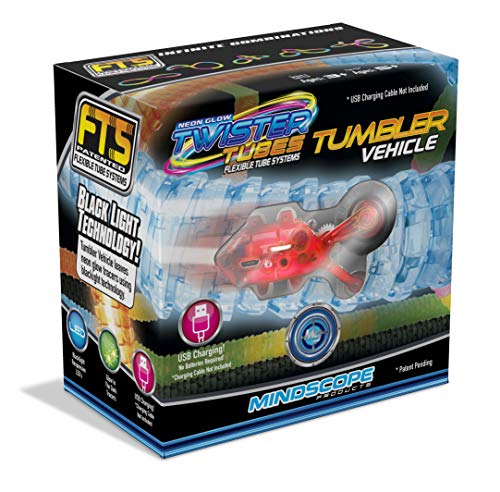 Mindscope Twister Tubes Neon Glow in The Dark Add-on Rechargeable Car Tumbler Vehicle ()