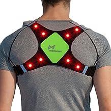 wildsaver X-Sport LED de seguridad vest| iluminada, reflectante, chamarra impermeable para mujer con bolsillos para Running, Ciclismo, Motocicleta, Bici | Noche de alta visibilidad ropa Gear para hombres y mujeres