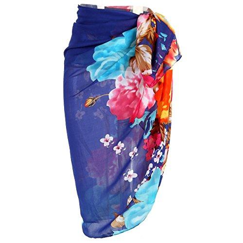 Ayliss Womens Swimwear Chiffon Cover up Beach Sarong Pareo Bikini Swimsuit Wrap (One Size, 19) (Cover Sarong Pareo Up)