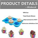 Wolecok Silicone Muffin Pans, Set of 2 Cupcake
