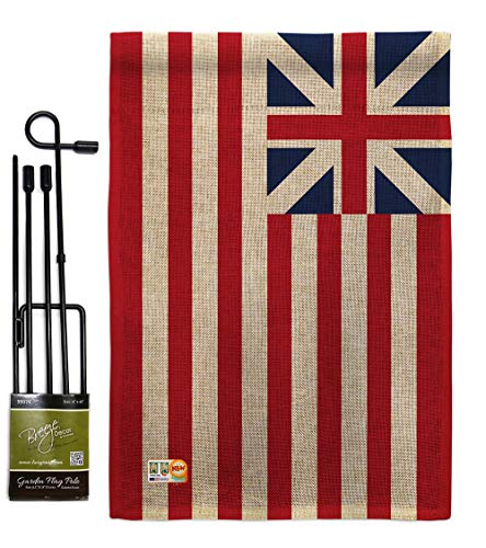 Historical Set - Americana Home & Garden GS140716-DB Grand Union Burlap Flags of The World Historical Impressions Decorative Vertical 13