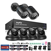 SANNCE Full-HD 1080N 8CH Integrated Battery Backup(UPS) DVR Video Security System and (6) Indoor/Outdoor IR Weatherproof CCTV Cameras with Motion Detection, NO Hard Drive