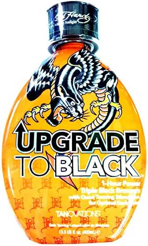 Ed Hardy Upgrade To Black 1 Hour Power Bronzer Indoor Tanning Bed Lotion 13.5 Us Fl. Oz. (400 Ml)