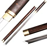 Plain Ninja Sword Brass Fittings Rosewood Saya Katakirihadukuri Blade