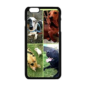 Happy Lovely Dogs Cell Phone Case for Iphone 6 Plus