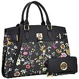MKP Collection Fashion Woman Handbag and Wallet set~Beautiful Tote~Designer Satchel~Fashion Purse.Top handle handbag. Holiday gift for woman. Shoulder handbag(6892W) (FN-03-6876-W-BLF)