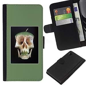 iBinBang / Flip Funda de Cuero Case Cover - Manzana doctor Away Muerte Cráneo Core - Sony Xperia Z2 D6502
