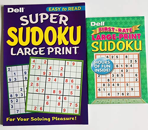 Set of 2 Large Print Sudoku Puzzles from Dell Penny Press ()