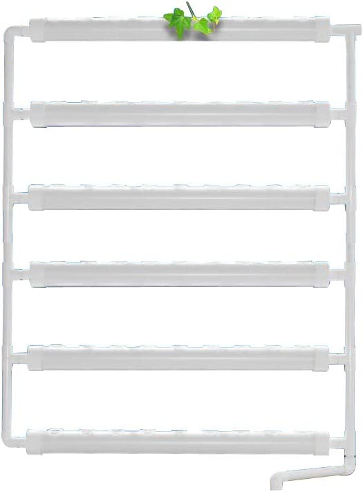 Wall-Mounted Hydroponic Grow Kit 54Plant Sites 6 Pipes Garden Tool Vegetable