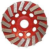 Turbo Cup Wheel, 4.5 inch, 18 Segment, 25/30 Grit, 5/8''‑11 Arbor, Threaded