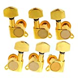 MUSEUNLIMITED 3R+3L Acoustic Electric Ballad Sealed Guitar string Tuner Tuning Pegs Machine Heads Golden guitar accessories