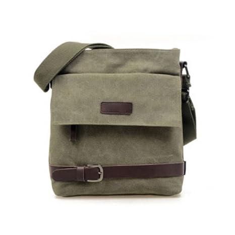 de7c274890fd Zeroral Men Canvas Bag Multi-Purpose Fashion Handbags Office Single Shoulder  Bags Army Green