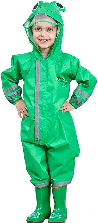 SSAWcasa ワンピースレインスーツ キッズ ユニ 幼児 防水 レインスーツ レインコート カバーオール