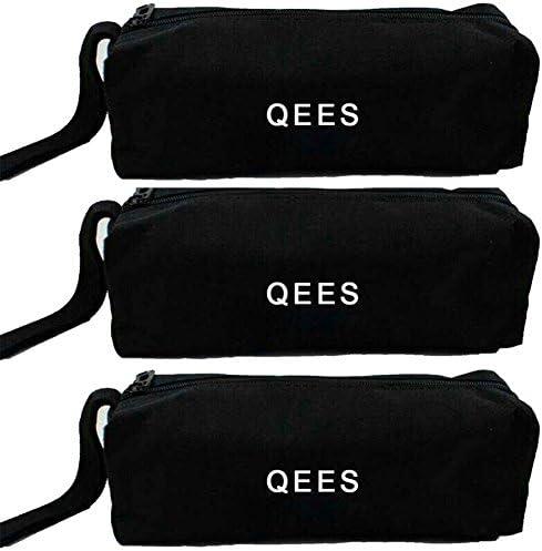 QEES ツールバッグ 道具袋 筆箱 工具バッグ 化粧品バッグ 25*8.5*7cm 文房具収納 便利 3セット 工具袋 600Dオックスフォード