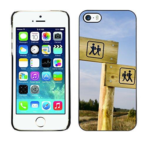 Premio Sottile Slim Cassa Custodia Case Cover Shell // V00002557 panneau Randonnées // Apple iPhone 5 5S 5G