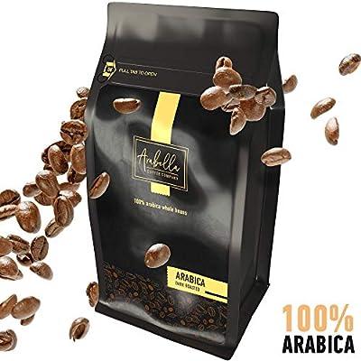 Sumatra Whole Bean Coffee, USDA Certified Organic, Dark Roast Coffee Beans. by Arabella