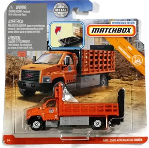 - Matchbox Mbx Construction - GMC 3500 Attenuator Truck