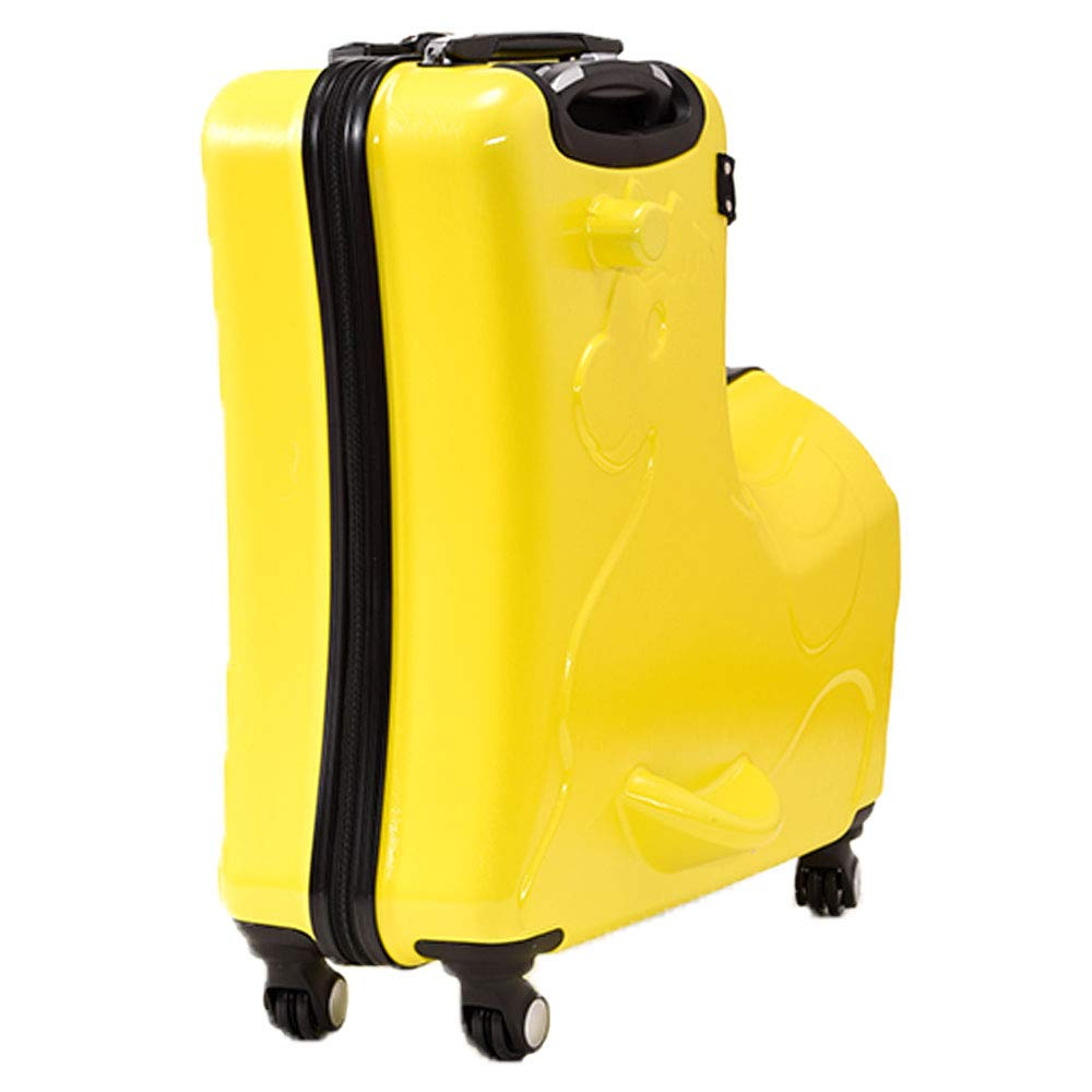 Plus Nao(プラスナオ) スーツケース キャリーケース キャリーバッグ トランク 子供乗れる らくらく旅行 TSA付き TSAロック TSA認証のカギ B07GBH5JTM イエロー